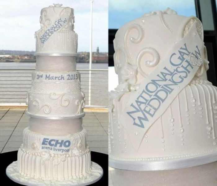Торт для Национального свадебного шоу геев.