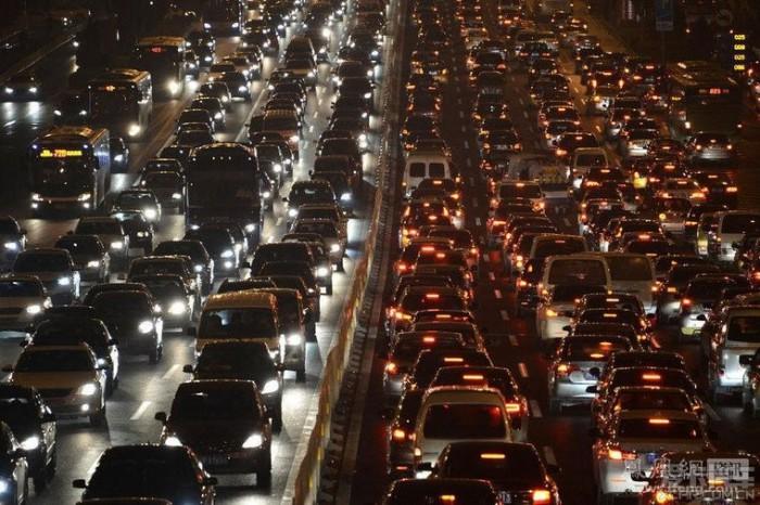 Пробки в вечернем Пекине.