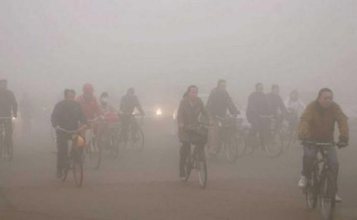 Загрязнение воздуха в Пекине.
