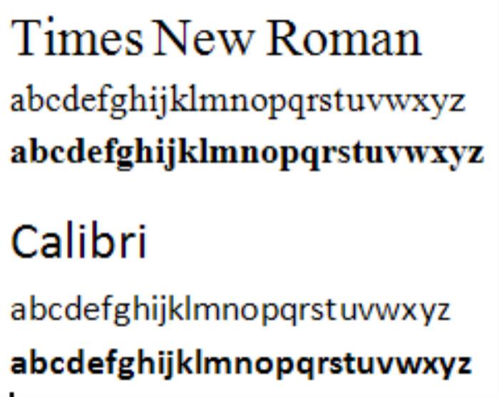 Calibri 11 - официальный шрифт Microsoft.