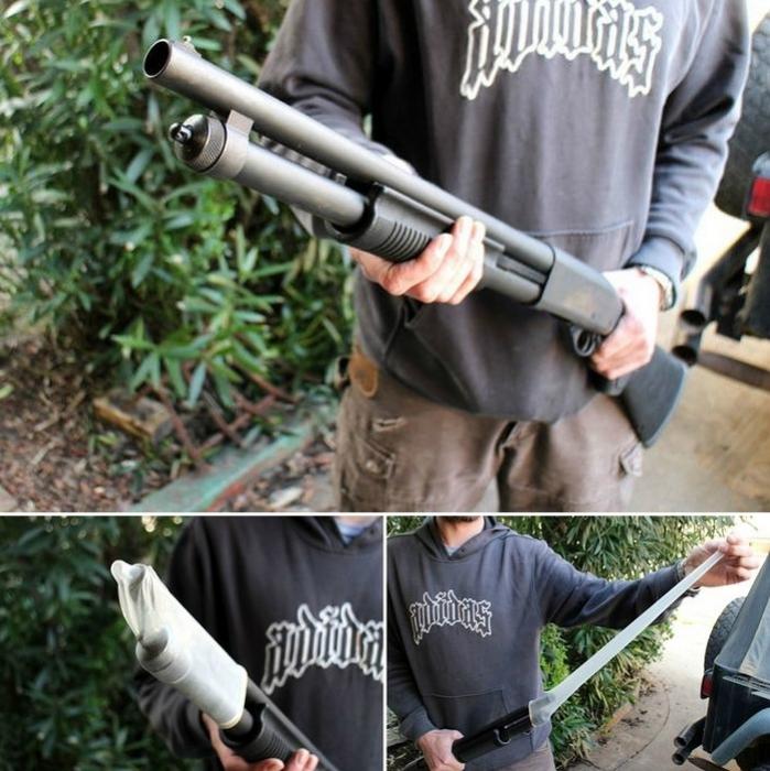 Защитный чехол для винтовки.