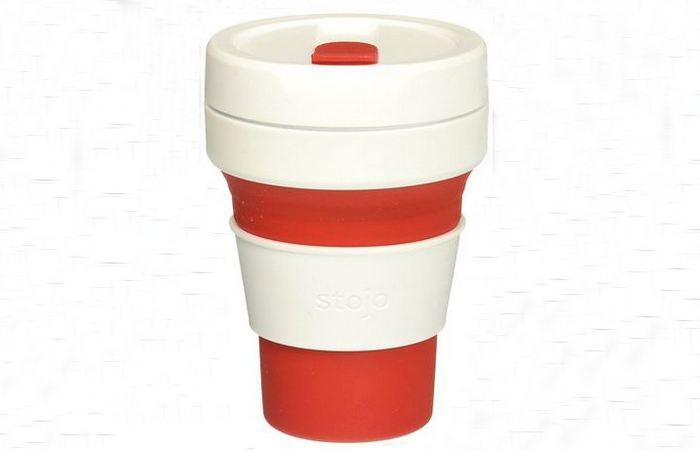 Герметичная многоразовая чашка Stojo.