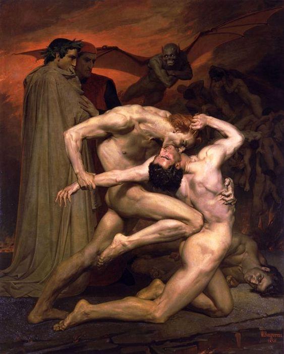 Данте и Вергилий в аду. Адольф Вильям Бугро.