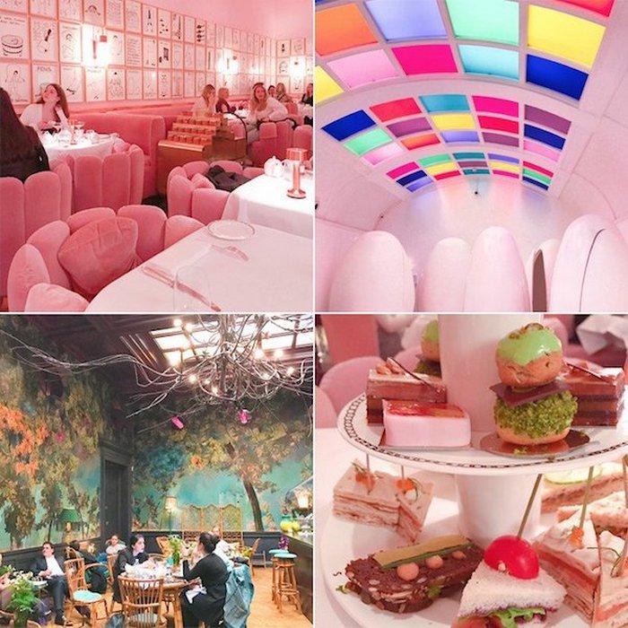 Красочная лондонская чайная комната.