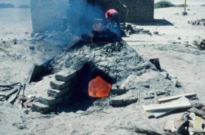 Египетская печь для получения стекла.