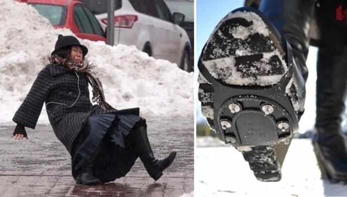 О том, как ходить зимой и не поскальзываться.