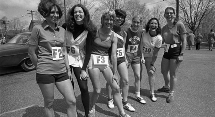 Первые женщины на Бостонском марафоне, 1972 год.