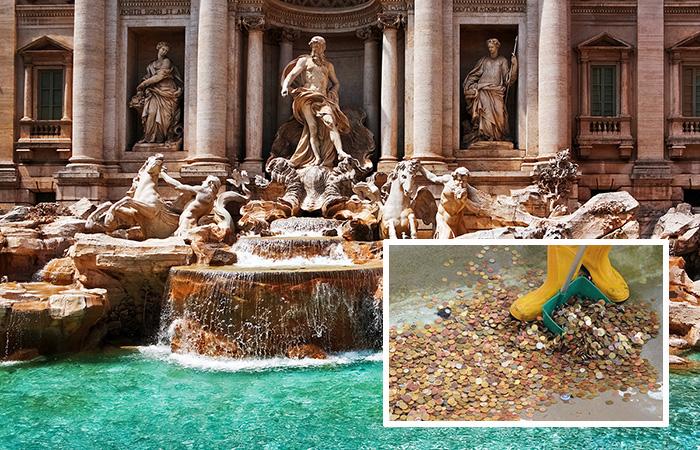 Почти 1,5 миллиона евро достали из фонтана Треви в Риме.