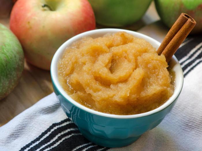 Яблочный мусс быстрого приготовления.