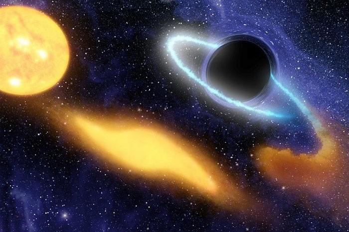 Черная дыра весом до 5000 Солнц