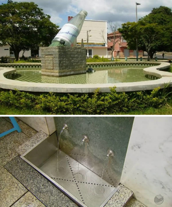 Бразильские фонтаны с природной минеральной водой