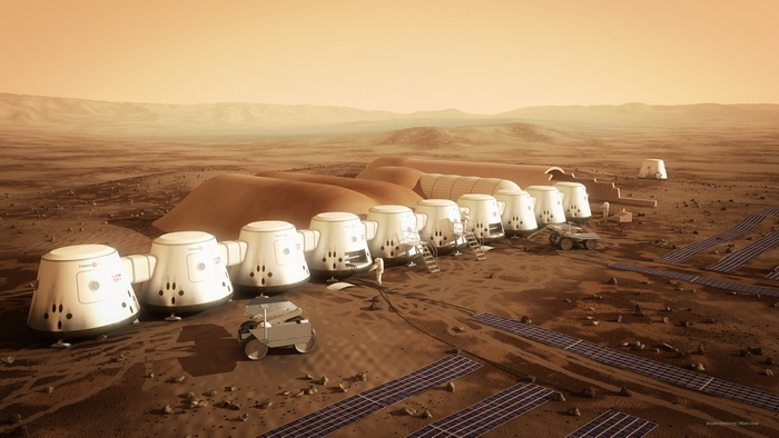 Колония на Марсе.