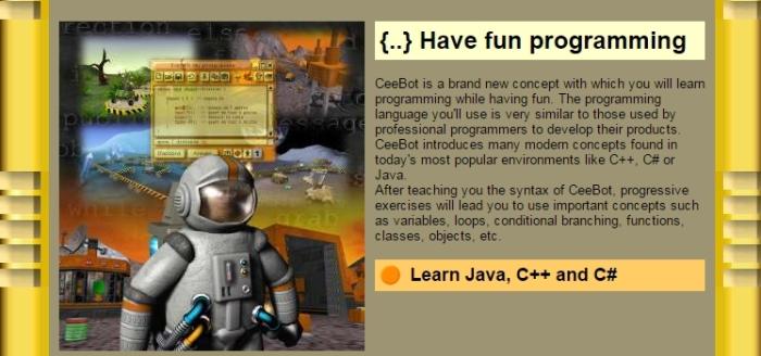 Сeebot - игра для тех, кто почувствовал вкус темы.