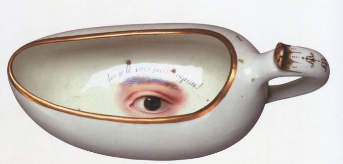 Старинная утка 18-го века с надписью «Я вижу тебя, маленький шалун».