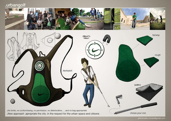Golf backpack - рюкзак для поклонников гольфа.