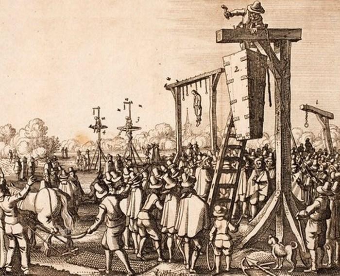 Жиль ван Леденберг - повешение в гробу.