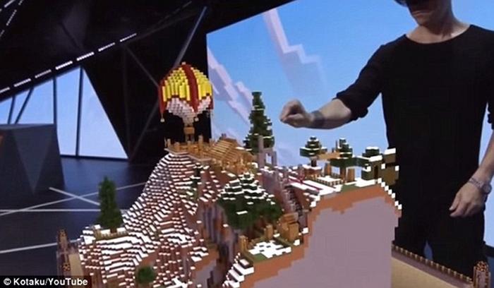 ���� ����������� ���������� HoloLens ��� Minecraft.