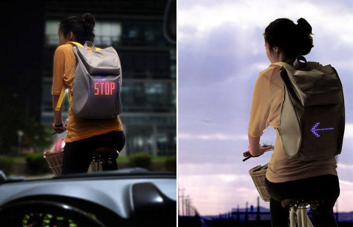 Рюкзак, который умеет подавать сигналы.