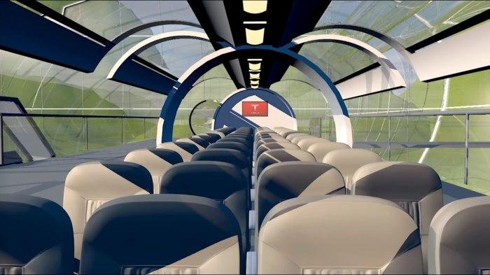 Возможно так будет выглядеть вагон вакуумного поезда.