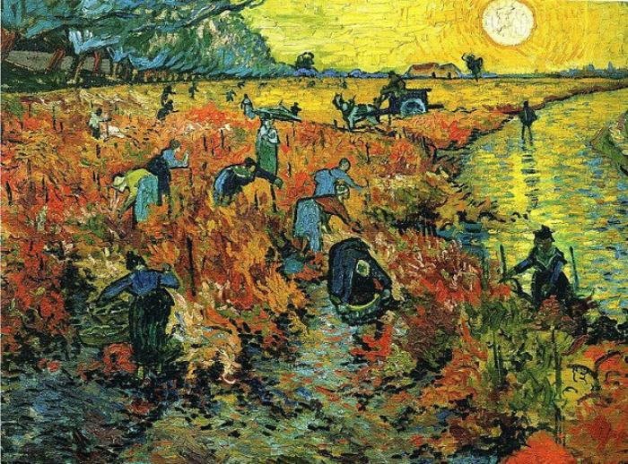 Красный виноградник. Винсент ван Гог.