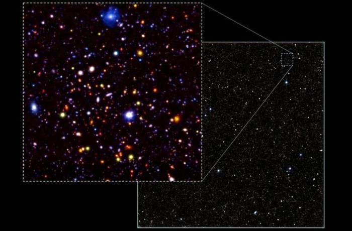 Глубины Вселенной в инфракрасной диапазине.