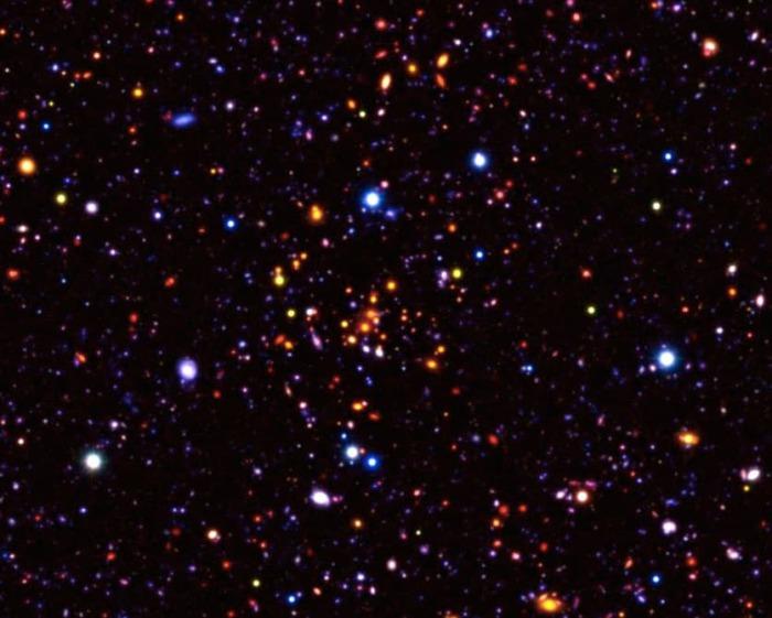 Древние галактики на современных фотографиях.