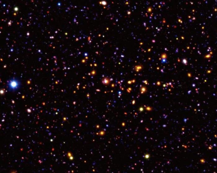 Удивительный свет далёких галактик.