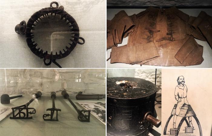 Ужасные орудия пыток из бельгийского замка Гент.