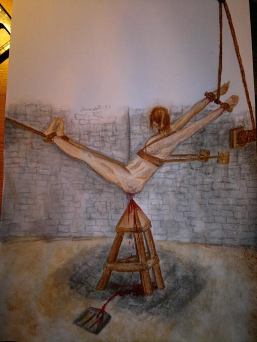 Колыбель Иуды - стул с пирамидой вместо сидения.