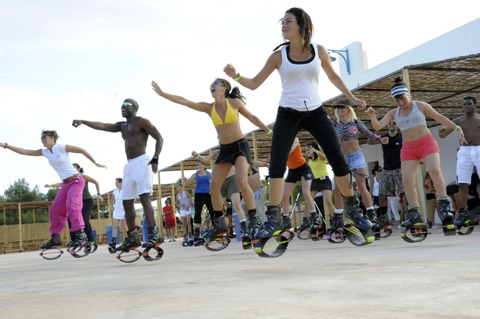 Тренировка в прыгающей обуви и прочие изыски фитнеса.