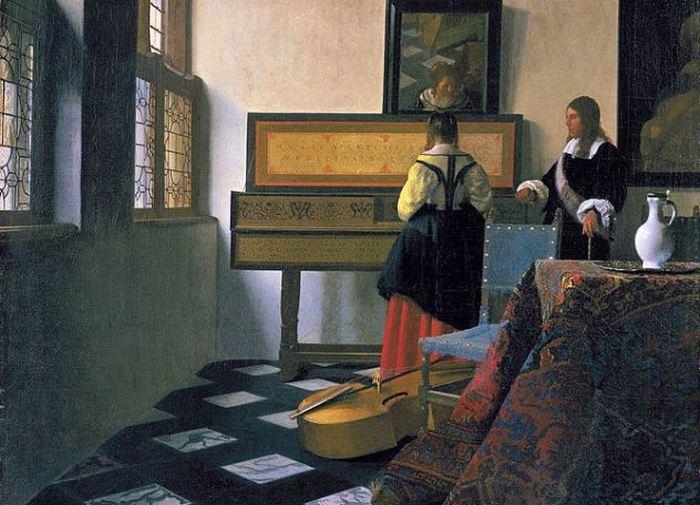 Урок музыки. Ян Вермеером.