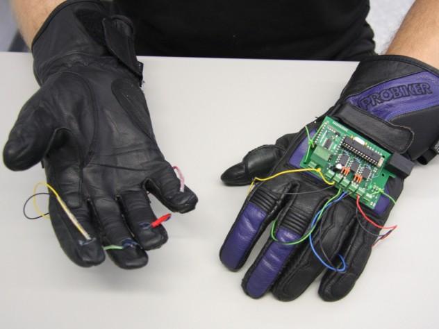 Вибротактильные перчатки.