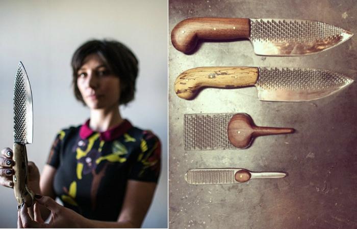 Челси Миллер и её ножи.