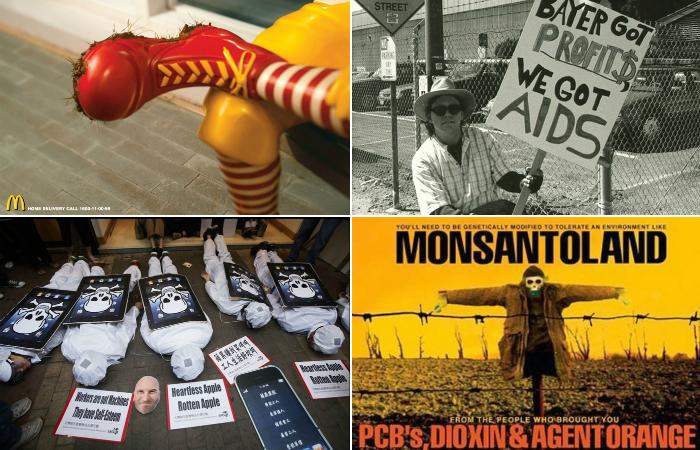 Корпорации зла, продукцию которых покупают во всём мире.