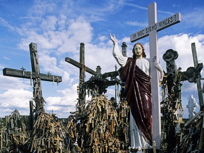 Гора крестов под Вильнюсом.