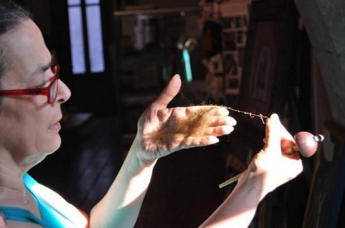 Кьяра Виго - последняя в мире создательница «морского шелка».