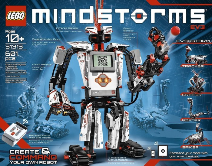 Lego Mindstorms Robotics Invention System - самый популярный набор.