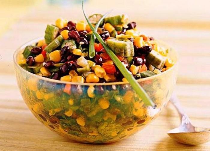 Кукурузно-овощное соте.