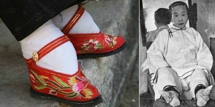 Китайские туфли-лотосы и их жертва.