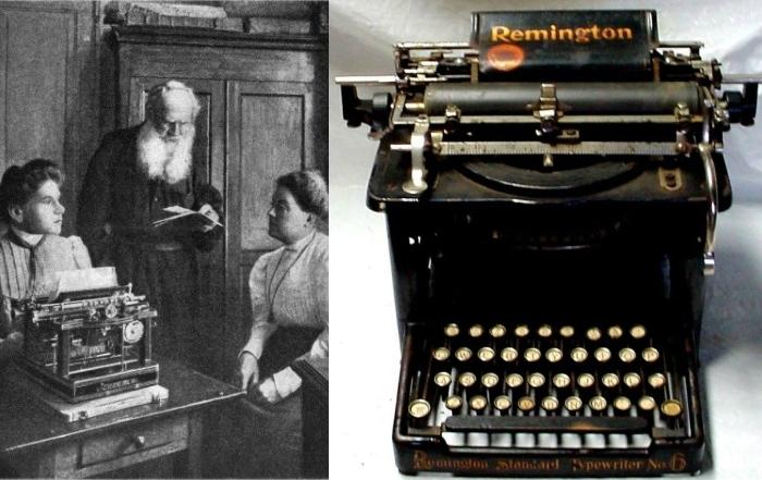 Лев Толстой и его Remington understroke.