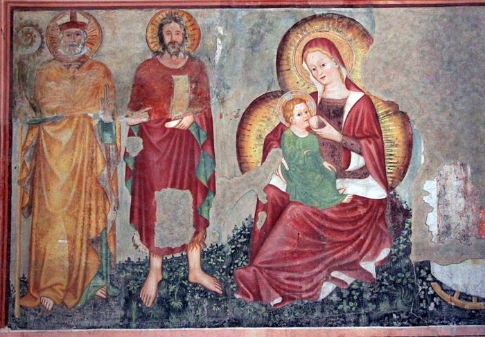 Фреска неведомого художника в церкви Святого Николая в итальянском городе Тревизо.