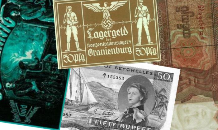 Необычные банкноты со странной символикой.