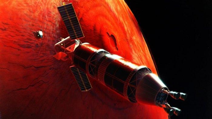 Полёт на Марс.