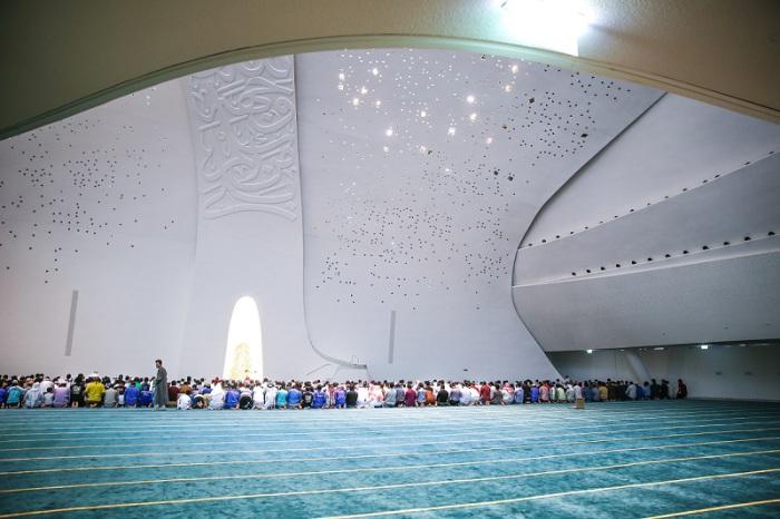 Во время молитвы.