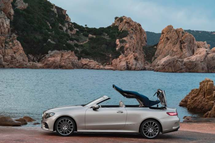 Mercedes E-Class: крыша которая открывается и закрывается.