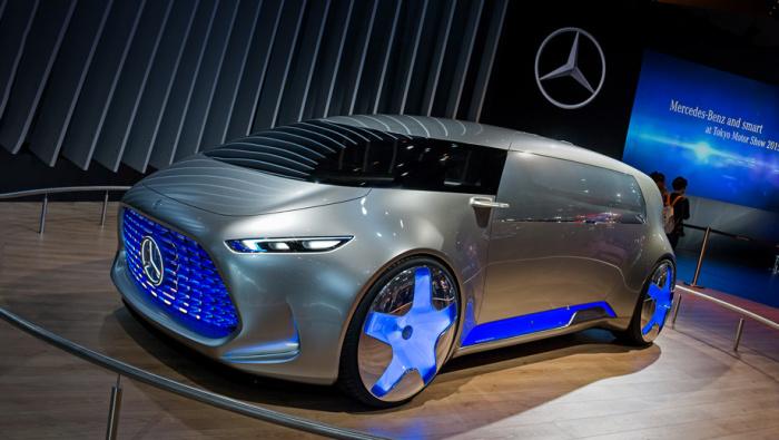 Беспилотник Mercedes-Benz Vision Tokyo и другие новинки Mercedes-Benz Vision Tokyo.