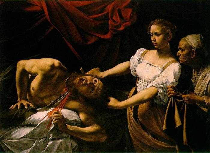 Юдифь, убивающая Олоферна. Караваджо