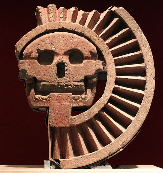 Ацтекский бог мертвых Миктлантекутли. Национальный музей антропологии в Мехико.