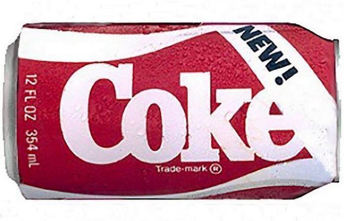 Полный провал: Coca-Cola New Coke.