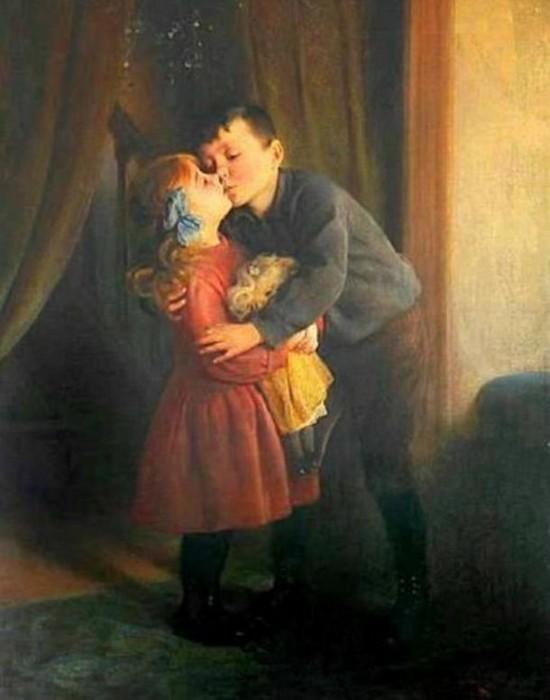 Поцелуи под омелой.